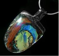 australian-opal-jewellery-yowah opal pendant