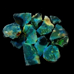Australian-opal- rough black opal