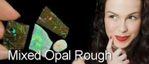 Rough boulder opal matrix with some crystal opal from Lightning Ridge and Coober Pedy