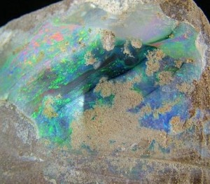 Opal specimen from Coober Pedy opal fields