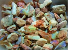 How to grade rough opal