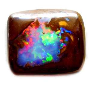 yowah-nut-opal with brilliant red features