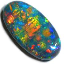 Black Opal from Lightning Ridge Australia