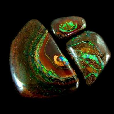 Boulder Opal matrix from Yowah