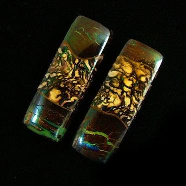 Pair of boulder opals for earrings
