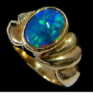 Opal Photography of same ring without finger