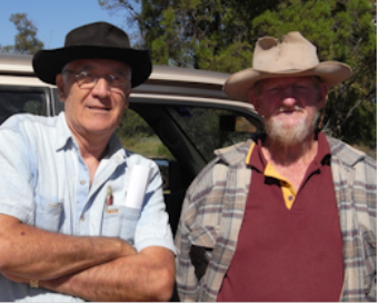 Peter with Jim a Lightning Ridge opal miner