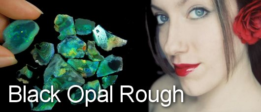 black opal rough from Lightning Ridge Australia