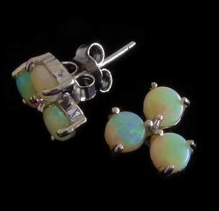 Opal earrings -cluster