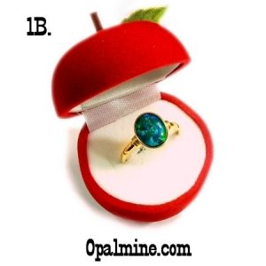opal ring gift boxes-Apple shaped ring box with ring feature
