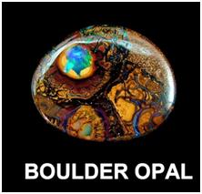 Loose boulder opal from yowah fields australia