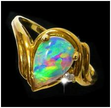 anniversary ideas crystal opal ring with diamond