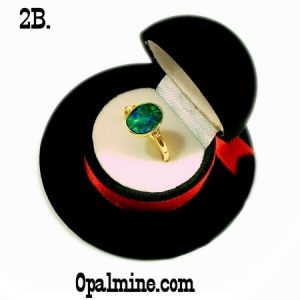opal ring gift boxes-Hat shaped ring box