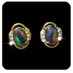 Opal Earrings 6016