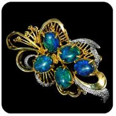 Opal Brooch 6709