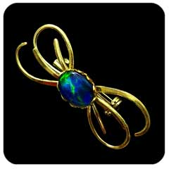 Opal Brooch Doublet