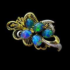 Opal Brooch 6734