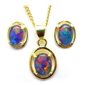 triplet opal set