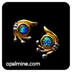 Opal Earrings 6093