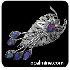 Opal Triplet Brooch