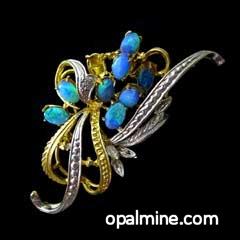 Opal Doublet Brooch
