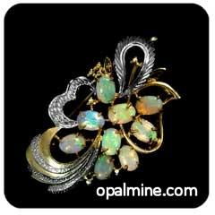 Opal Brooch 6713