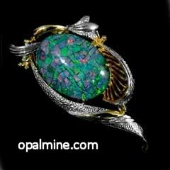 Opal Brooch 6720