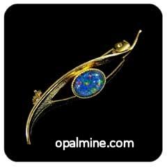 Opal Brooch 6721