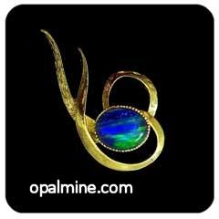 Opal Brooch 6726