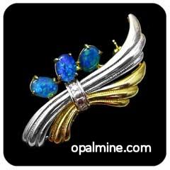 Opal Brooch 6729