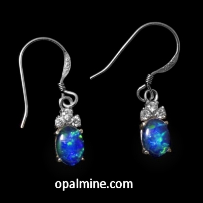 Opal earrings 6051a