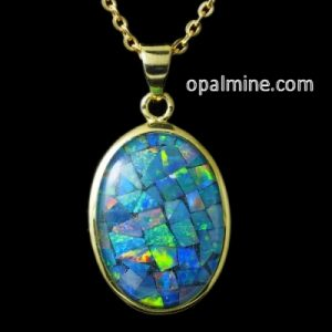 opal pendant 4056