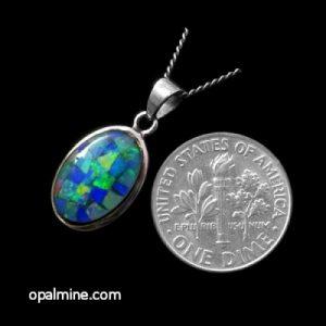 opal pendant 4048
