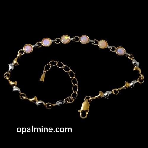 crystal opal bracelet