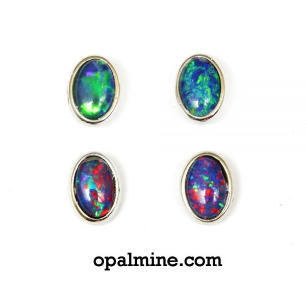 opal earrings 6042a