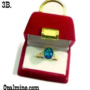 Opal Jewelry Box Selection featuring luxurious red velvet purse style box with gold plated fittings