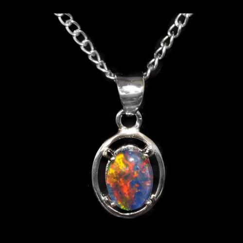 Opal Triplet Pendant