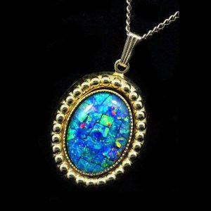 Mosaic Opal Pendant