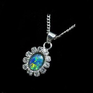 opal pendant, opal necklace