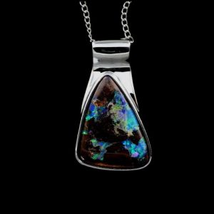 Opal Pendants Black Boulder