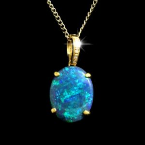 Opal Pendants Black