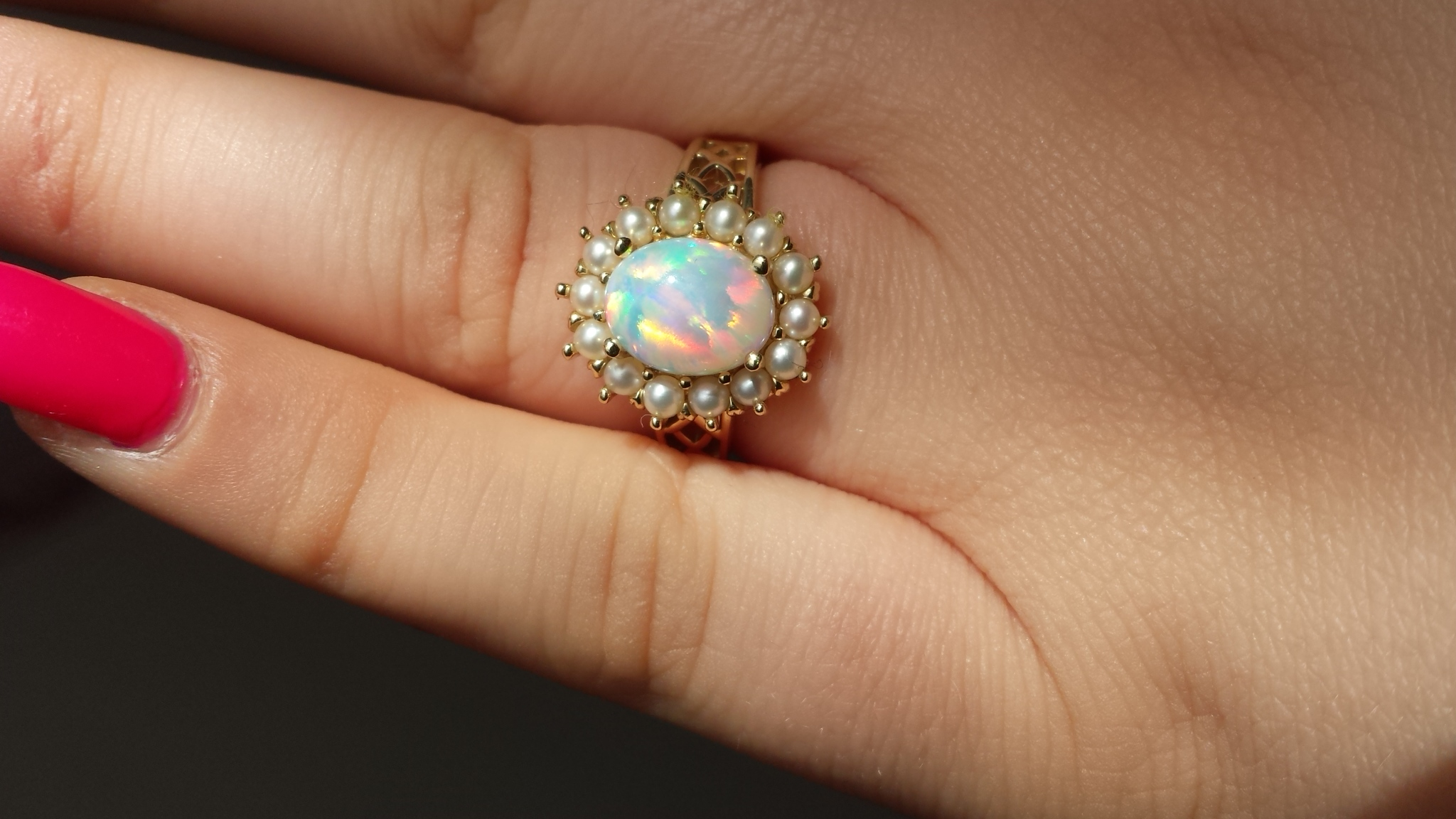 real engagement halo large opal flynn custom with rings boston diamond natural m shop pendant oversized