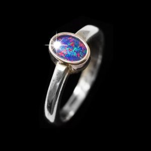 opal ring set in silver