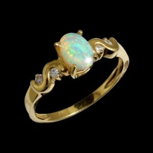 Opal Rings Crystal