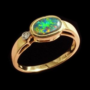 Fire opal engagement