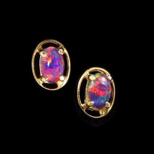 opal triplet earrings