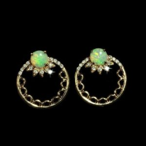 Opal Earrings Crystal