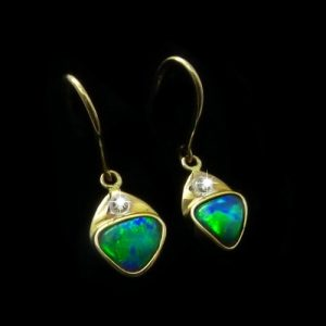 Opal Earrings Black