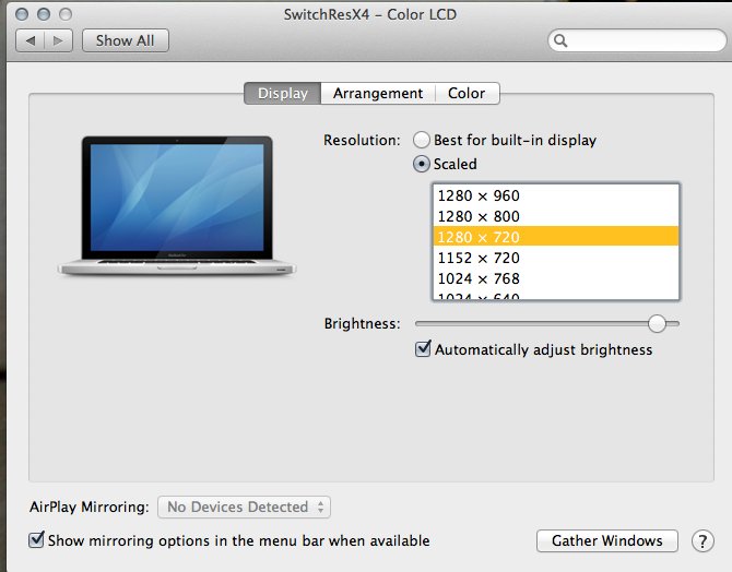 how to view change viewing photo settings on mac