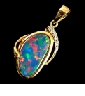 designer-opal-jewelry-pendant showing brilliant red and blue